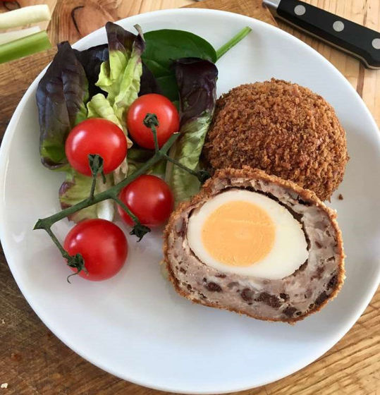 Picture of Gourmet Scotch Egg with Black Pudding