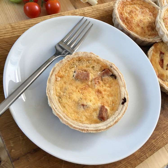 Picture of Ham & Roasted Mushroom Quiche (Individual)